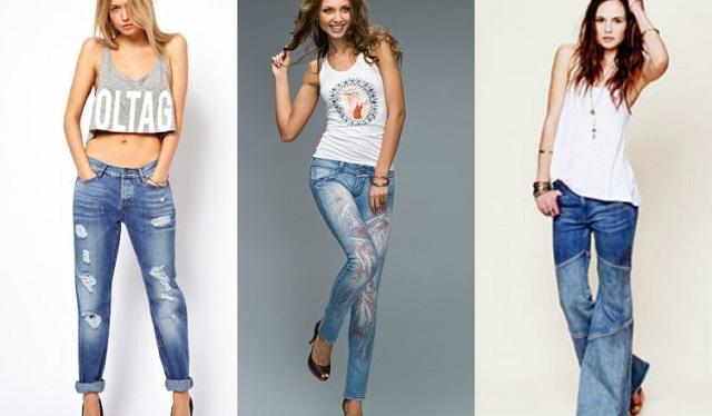 Варианты джинсов с подходящей посадкой