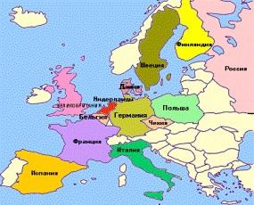 Карта Европы в итальянских стереотипах