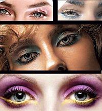 Модный макияж осени: играем на контрасте. Особенно подходят голубым глазам такие цвета: коричневый, розовый, серый, сливовый, серебристый.
