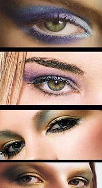 Модный макияж осени: играем на контрасте. Среди главных тенденций – цветовой контраст. Сейчас уже не модно подводить глаза карандашом под цвет глаз и подбирать тени в тон, играйте на контрасте. Например, голубые глаза подчеркните изумрудными тенями, а для зеленых глаз выбирайте синюю тушь и перла
