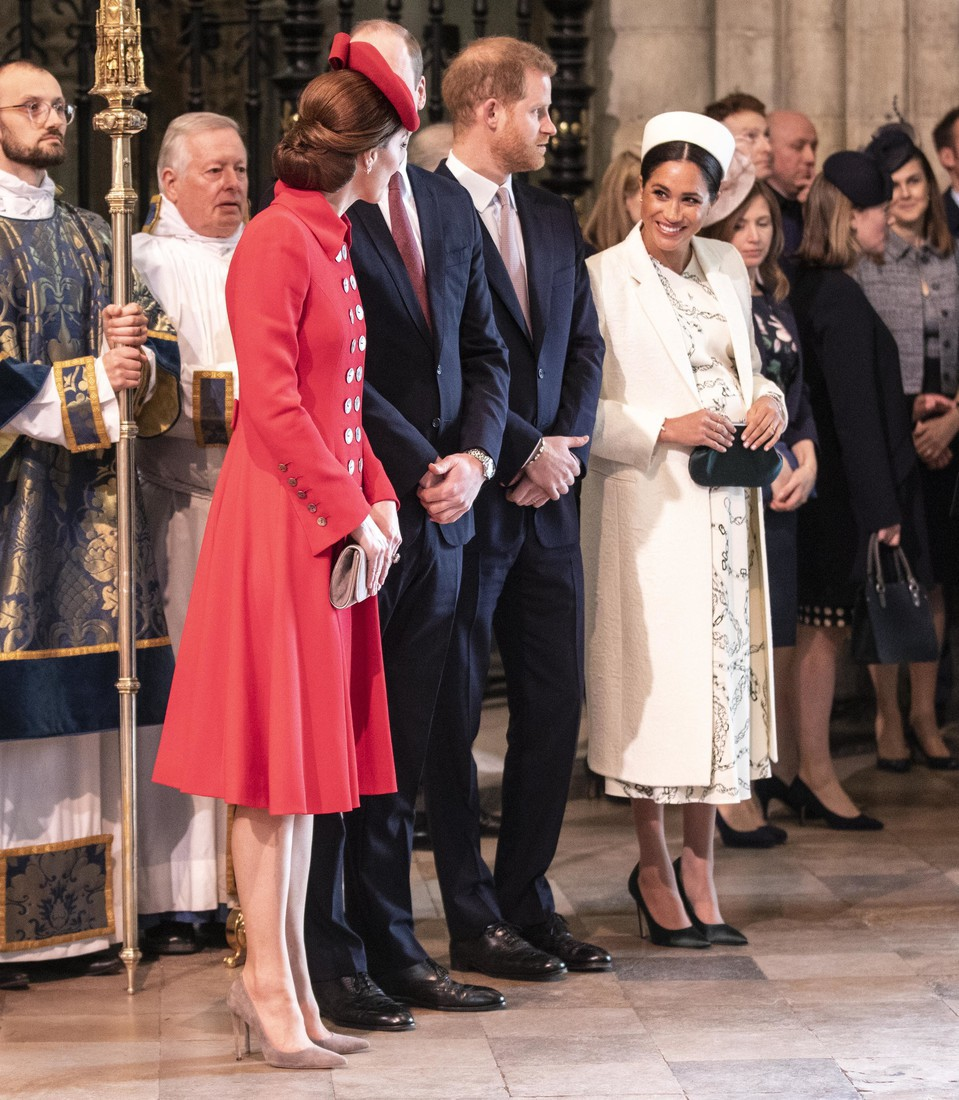 Кейт и Меган в Вестминстерском аббатстве